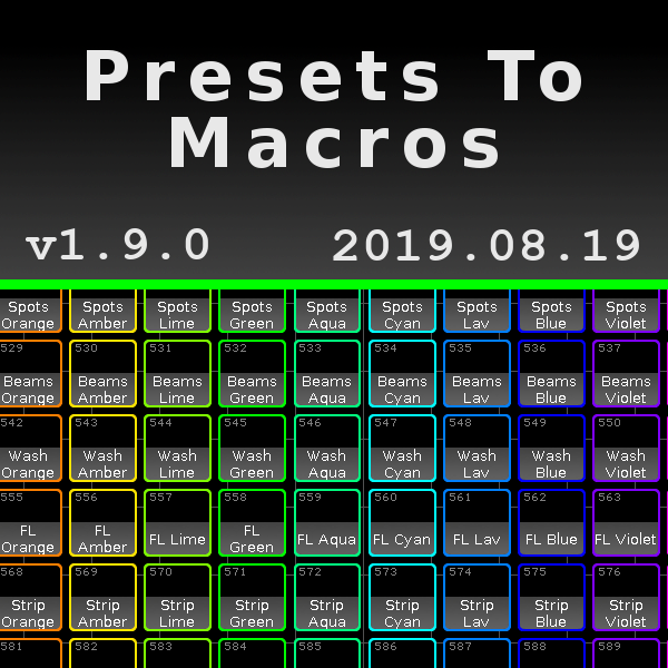 Presets to Macros